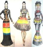 彝族风格女装设计