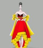 中国风女装礼服设计