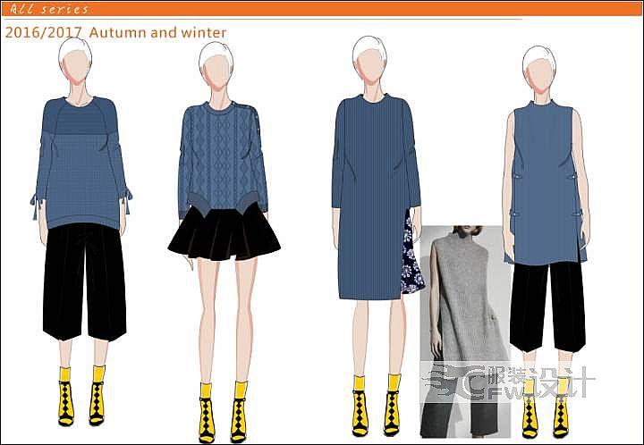 针织上衣作品-针织上衣款式图
