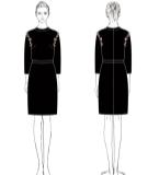服装效果图和图案花型