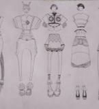 服装系列效果图