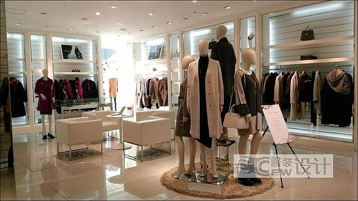 舒朗旗舰店陈列橱窗 dp点-女装设计-服装设计图片