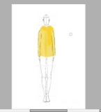 黄色羊毛衫