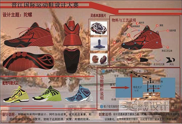陀螺-鞋帽配饰设计-服装设计