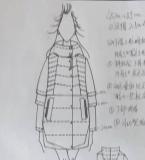 羽绒服图稿和成品样衣