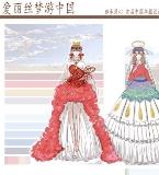 服装设计效果图和一些纸样图以及平时画的一些人物