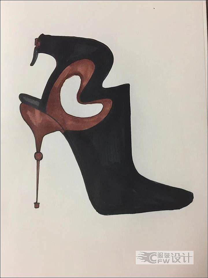 超细跟高跟鞋作品-超细跟高跟鞋款式图
