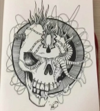骷髅图案设计