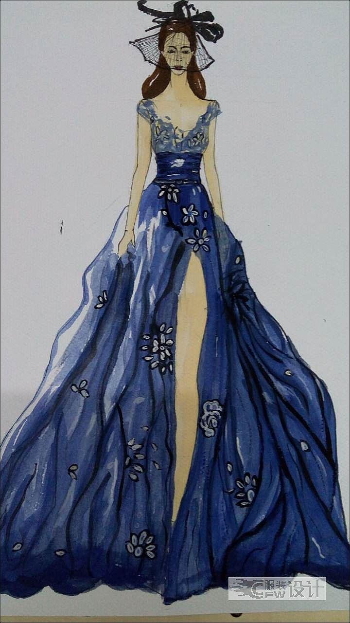 礼服设计作品-礼服设计款式图