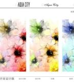 丝巾围巾花型图案设计
