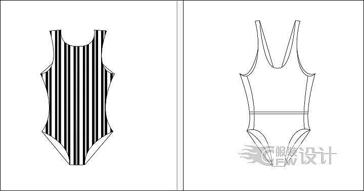 泳衣02作品-泳衣02款式图