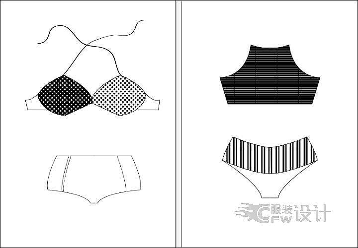 泳衣03作品-泳衣03款式图