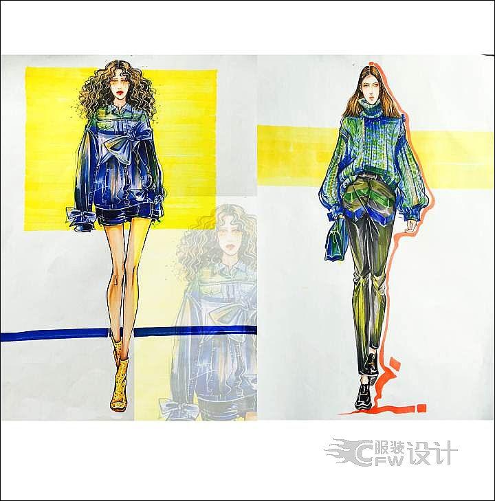 手绘图44-女装设计-服装设计