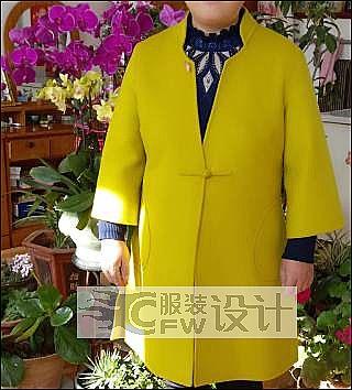 女士中年双面绒大衣作品-女士中年双面绒大衣款式图