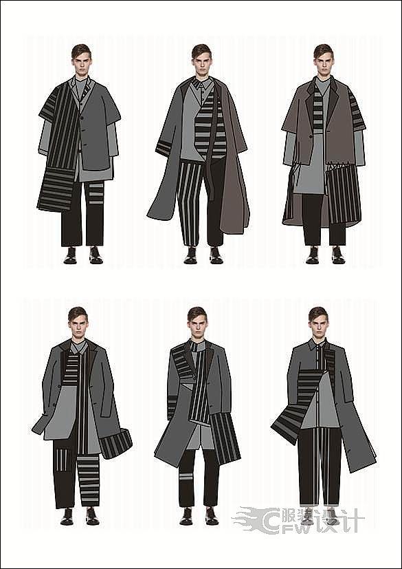 化而裁之――男士休闲服装设计作品-化而裁之――男士休闲服装设计款式图