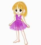 紫色花丝裙