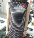针织绣花旗袍