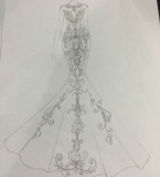 为顾客设计的婚纱