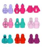 女童冬装款式图