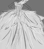 庞大的羽毛婚纱!