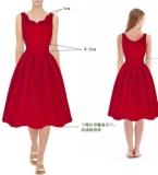 红色复古连衣裙