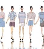 针织服装效果图