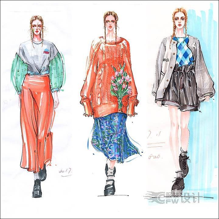 最美时装画-女装设计-服装设计