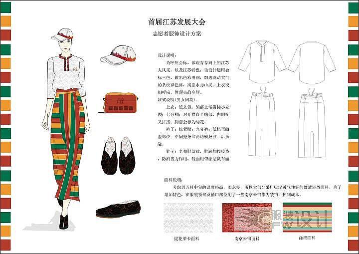 志愿者服装作品-志愿者服装款式图