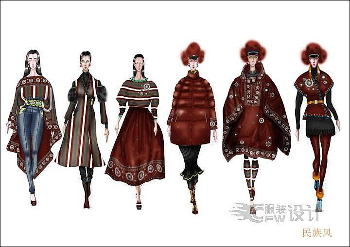民族风系列设计-女装设计-服装设计