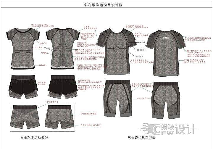 荣利运动服饰设计稿作品-荣利运动服饰设计稿款式图