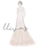 Lliva手绘作品-婚纱3