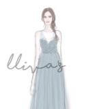 Lliva手绘作品-伴娘礼服3