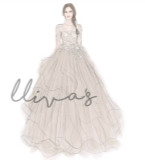 Lliva手绘作品-婚纱2