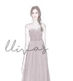 Lliva手绘作品-伴娘礼服2