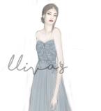 Lliva手绘作品-伴娘礼服1