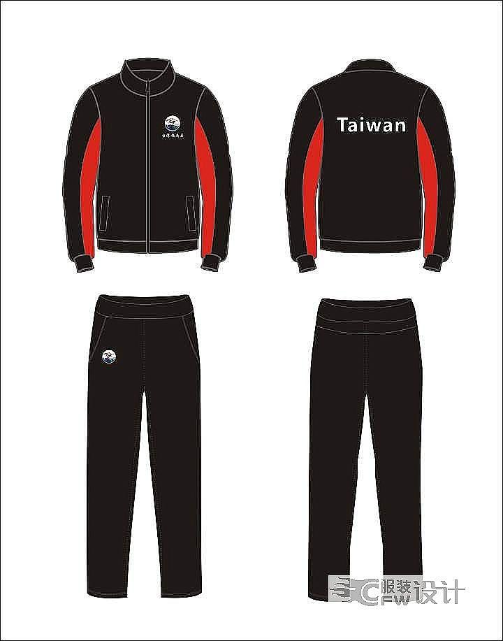 运动服套装款式图-男装设计-服装设计