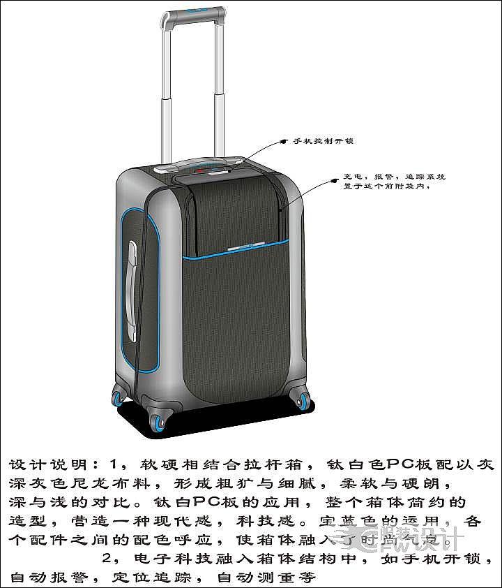 拉杆箱 旅行箱 箱包 行李箱 720_842
