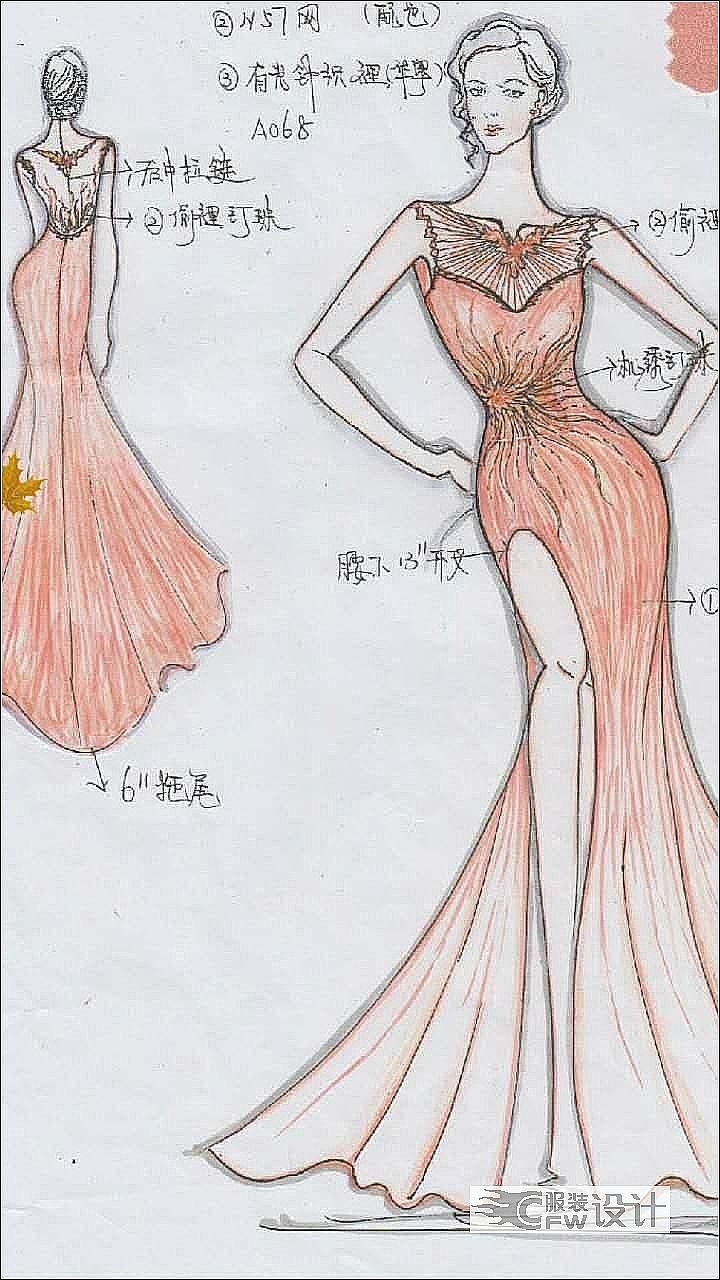 欧美礼服作品-欧美礼服款式图