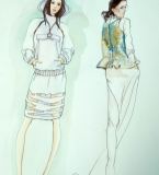 手绘服装画2
