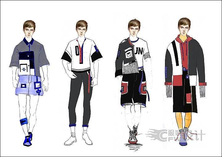 男装产品设计作品-男装产品设计款式图
