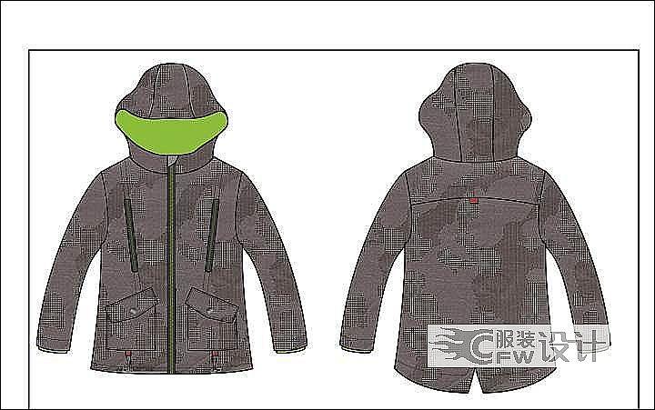 男童夹克作品-男童夹克款式图
