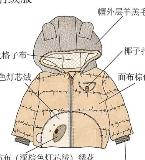 小熊图案男小童棉服