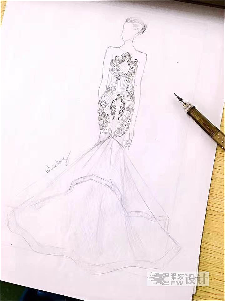 婚纱礼服款式作品-婚纱礼服款式款式图