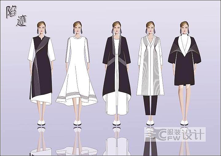 cdr服装效果图作品-cdr服装效果图款式图