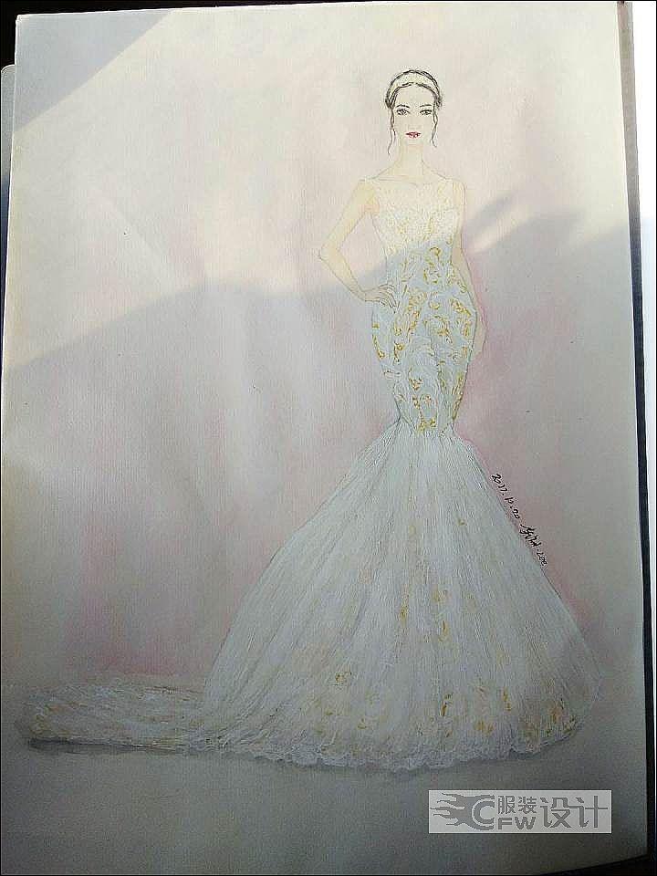 婚纱礼服设计作品-婚纱礼服设计款式图