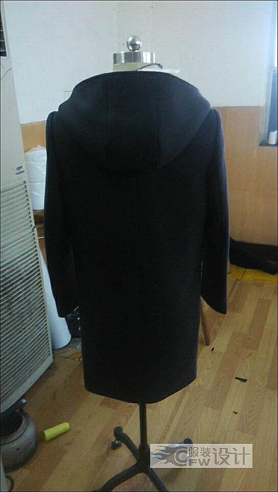 男装大衣作品-男装大衣款式图