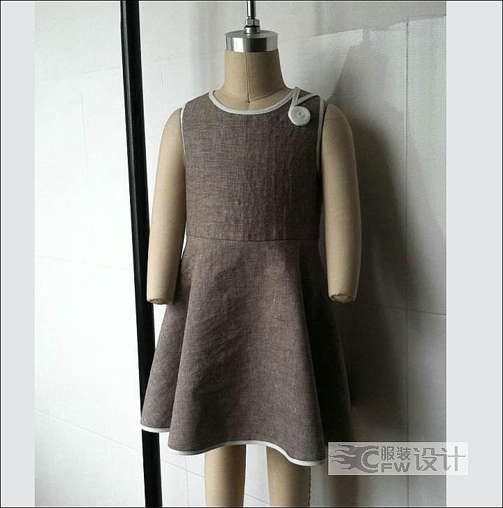 童装连衣裙作品-童装连衣裙款式图