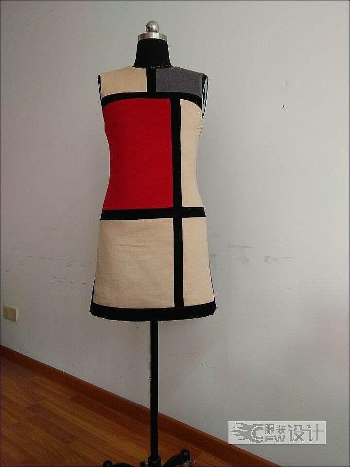 羊绒风衣,马甲,礼服连衣裙作品-羊绒风衣,马甲,礼服连衣裙款式图