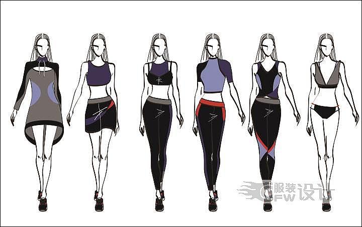 内衣设计作业作品-内衣设计作业款式图