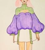 泡泡袖与格子衫
